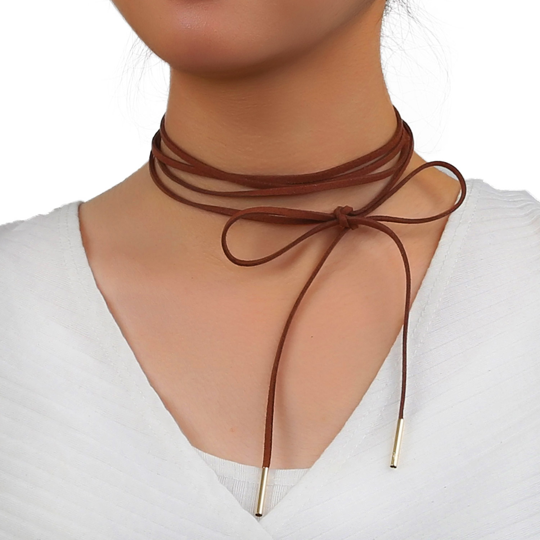 2cffa859c804c Suede Wrap Choker Necklace