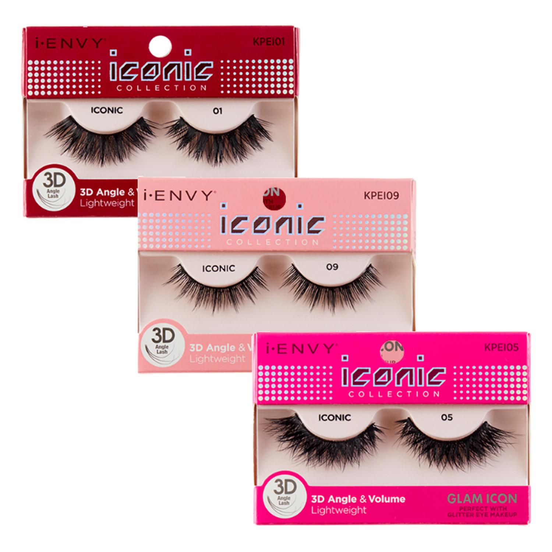 95f79c51477 KISS i ENVY Iconic 3D Angle & Volume Lightweight Eyelashes - iKateHouse