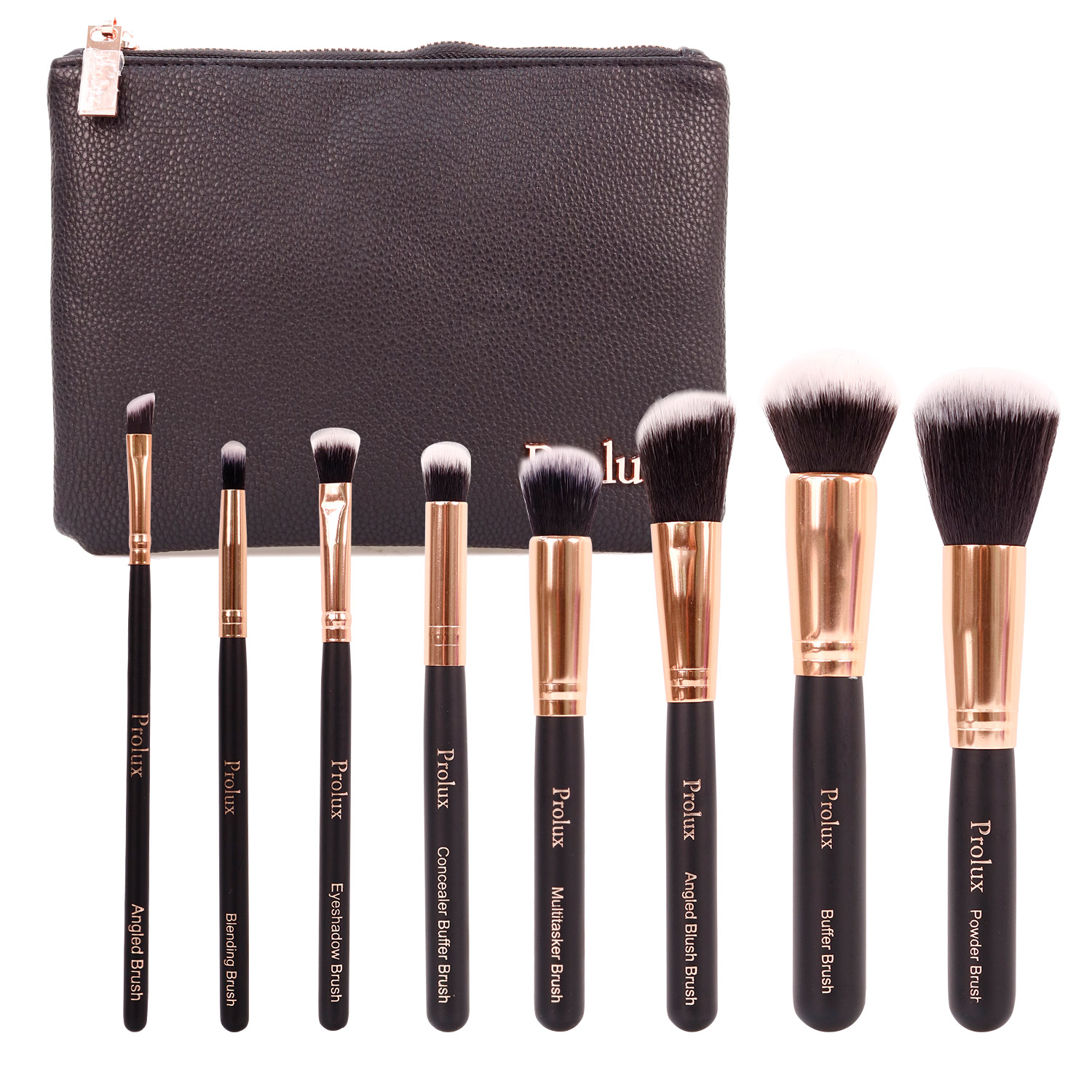 Makeup Brushes Ikatehouse 36 Pcs Professional Cosmetic Facial Wood Make Up Brush Tools Kit Set With Black Leather Case Profusion Deluxe 8 Bag